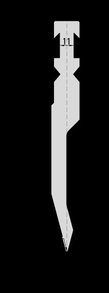 Гибочный пуансон для листогибочных прессов системы Beyeler-Bystronic