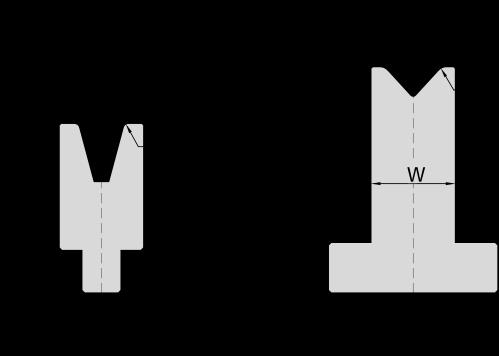 Гибочная матрица для листогибочных прессов системы Amada-Promecam
